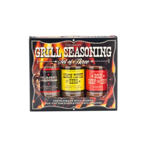 Pepper Creek Farms 80A 3 Pieces BBQ Seasoning & Grilling Set - Pack of 12
