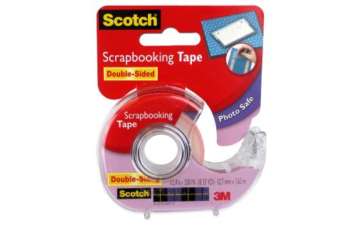 Sct2 scotch scrapbooking tape double sided 1 2x300
