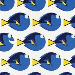 "Disney Finding Dory-Camelot Design 44/45"" Cotton 15Yd D/R-Dory Dot - White"