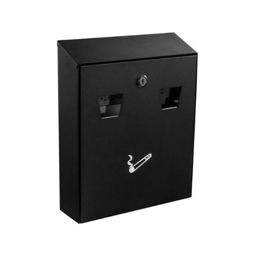 Alpine 490-01-BLK All-In-One Wall Mount Cigarette Disposal Station, Black