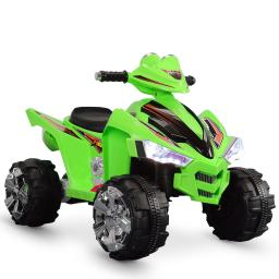 Kidzone Ride On ATV Quad 12V 4-Wheeler Kids Electric Car with High/Low Speed Horn Sound Battery Powered for Boys & Girls