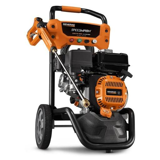 Generac 10000006882 SpeedWash 2900 PSI 2.4 GPM 196cc Gas Powered Pressure Washer System