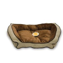K&H Pet Products 7321 Mocha / Tan K&H Pet Products Bolster Couch Pet Bed Large Mocha / Tan 28 X 40 X 9