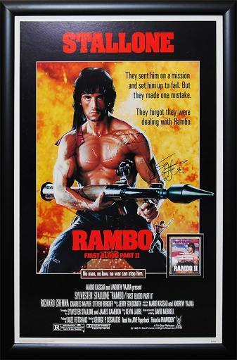 Rambo First Blood Part II - Signed Movie Poster 0CSXWJ8P8ENXJMH8