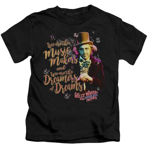 Willy Wonka And The Chocolate Factory Music Makers Little Boys Juvy Shirt (Black, 7)