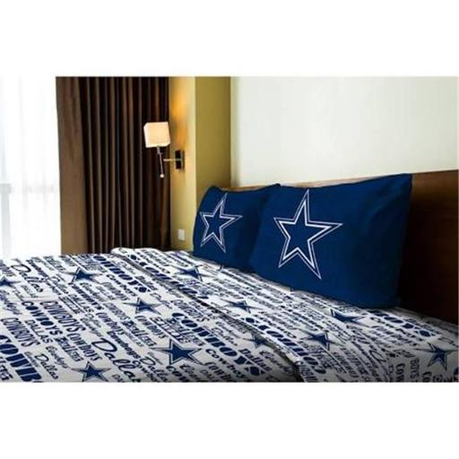 Northwest 1NFL-82101-0009-RET NFL - Dallas Cowboys Anthem Full Bed Sheet Set