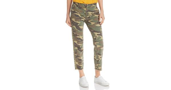 Sundry Womens Camouflage Ankle Casual Pants
