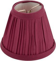 """Pleated Cloth Covered Lampshade 2.5""""X4""""X5""""-Burgundy 2609-65"""