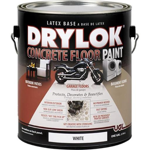 Zar 21213 1 Gallon Concrete Floor Paint, White - Pack Of 2