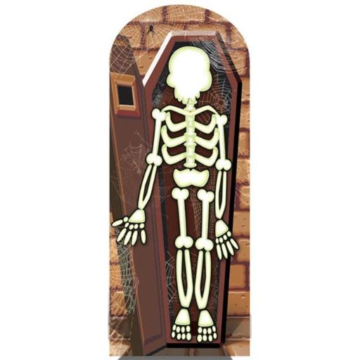 Skeleton Stand-In Cardboard Stand Ups