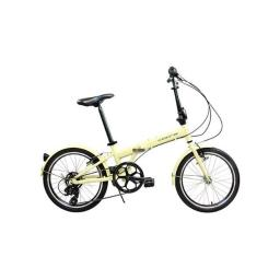 Alton Usa Cclovercrm Corsa Clover Aluminum Folding Bicycle With Shimano 7 Speed - Beige