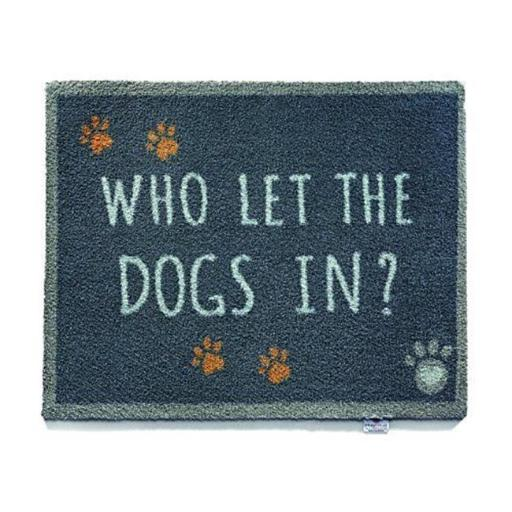 Bosmere T146 Hug Rug Pet 39 Who Let the Dogs in Barrier Mat