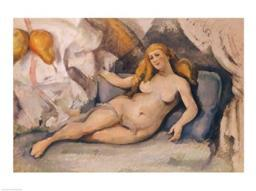 Female Nude on a Sofa Poster Print by Paul Cezanne BALXIR179419