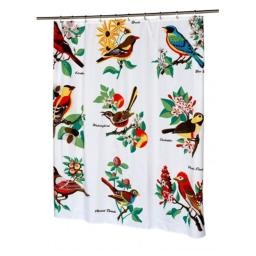 Carnation Home Fashions FSC13-AU Audubon Fabric Shower Curtain