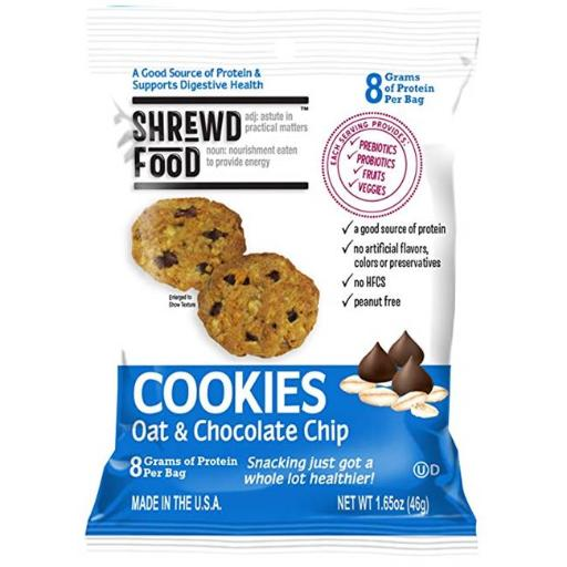 Shrewd Foods 9960004 Cookies Oat & Chocolate Chip Cookies, Pack of 9 BKPM1S3FTBXNNC9O