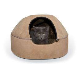 K&H Pet Products 3896 Tan K&H Pet Products Kitty Dome Bed Unheated Large Tan 20 X 20 X 13.50