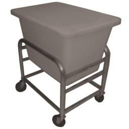 Prairie View LUGCT1BK6-NBT 6 Bushel Bulk Movers Aluminum Cart & Tub, 36 x 23.25 x 32.25 in.