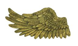 Metallic Gold Angel Wing Decorative Tray or Wall Hanging