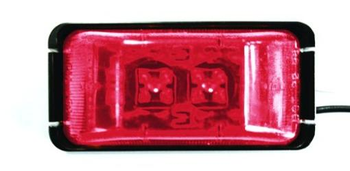 Bargman 47-37-031 #37 Series Red Waterproof Led Clearance Side/Marker Light Kit