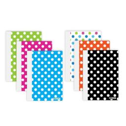 """4 Pk, Bazic 80 Ct. 5"""" X 7"""" Polka Dot Poly Cover Personal Composition Book (Assorted Colors)"""
