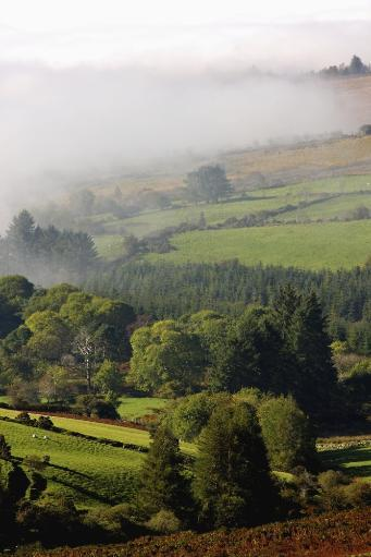 Fog Rolling Into Nire Valley; Clonmel, County Tipperary, Ireland PosterPrint