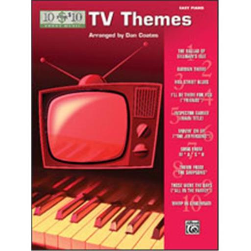 Alfred 00-33222 10 for 10 Sheet Music- TV Themes - Music Book