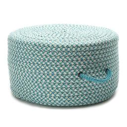 20 x 20 x 11 in. Houndstooth Pouf, Turquoise