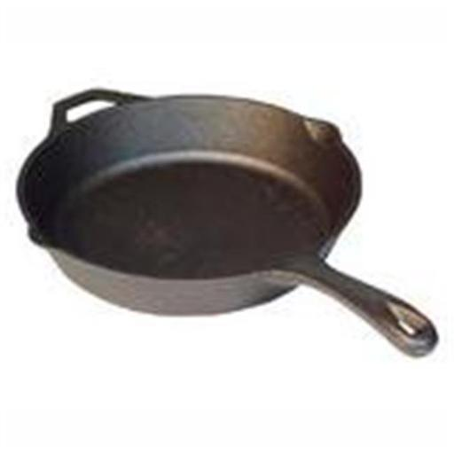 12 in. Seasoned Cast Iron Skillet - 12 in. Diameter - Skillet