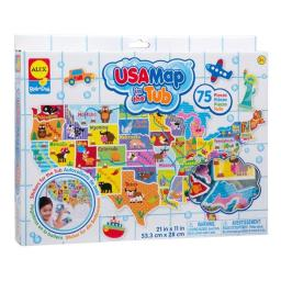 Alex Brands 0A890M Rub a Dub USA Map in the Tub