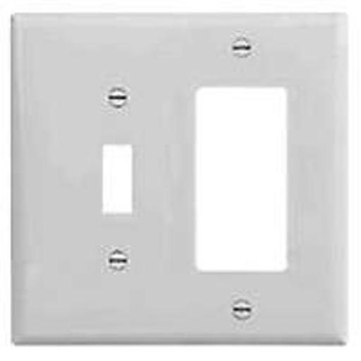 Cooper Wiring 2153w-box 2-gang Toggle And Decorator Wall Plate, White