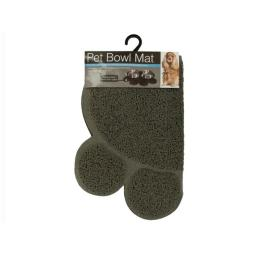 Bulk Buys OF456-8 Easy Clean Paw Print Pet Bowl Mat, 8 Piece