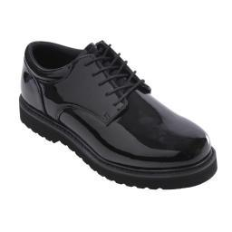 Rothco 5250 Men's Black High-Gloss Uniform Oxford Shoe w/Work Sole 5250