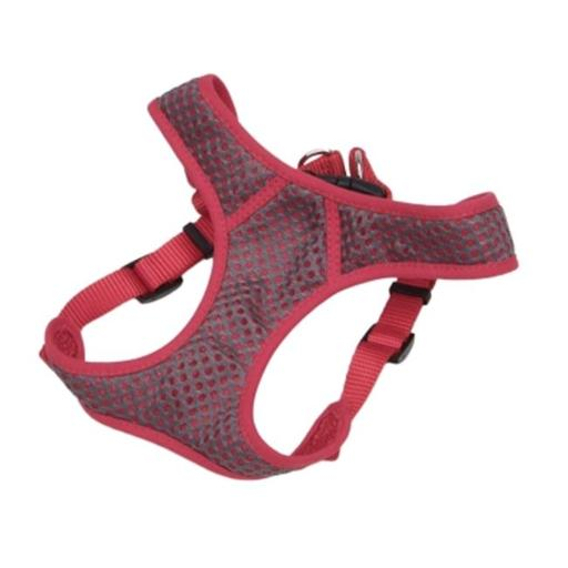 Animal Supply Company CO64806 Pet Sport Wrap Adjustable Harness - Grey & Red