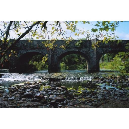 Posterazzi DPI1804302LARGE River Annalee Ballyhaise Co Cavan Ireland - Bridge Over A River Poster Print by The Irish Image Collection, 36 x 24 - Large