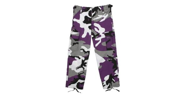 Rothco Kid's Military Style BDU Pants, Ultra Violet Camo