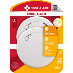First Alert Battery-Powered Photoelectric Smoke Detector - Case Of: 1;