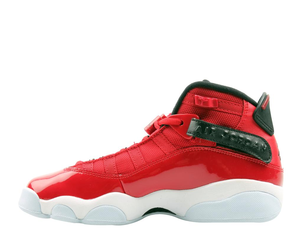 ccfb4b37a5f737 JORDAN Nike Air Jordan 6 Rings GS Red Black-White Big Kids Basketball Shoes  323419-601