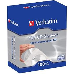 Verbatim corporation 49976 100pk cd/dvd paper sleeves with