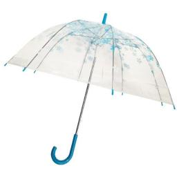 Conch Umbrellas 1260YH Blue Trim Clear Umbrella, Blue