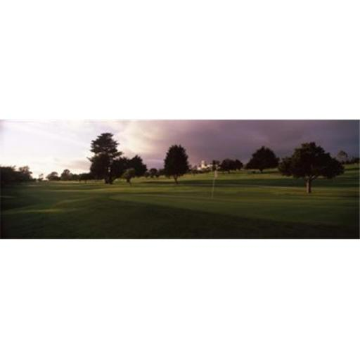 Panoramic Images PPI125171L Trees in a golf course Montecito Country Club Santa Barbara California USA Poster Print by Panoramic Images - 36 x 12