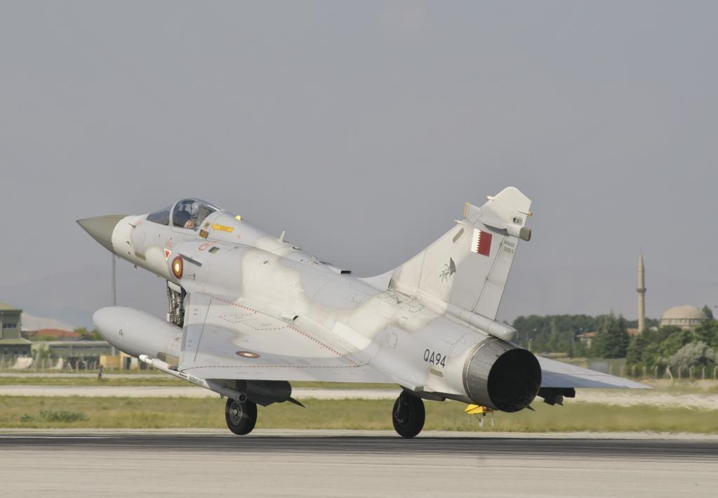 A Qatar Emiri Air Force Mirage 2000 during Exercise Anatolian Eagle at Konya Air Base, Turkey Poster Print