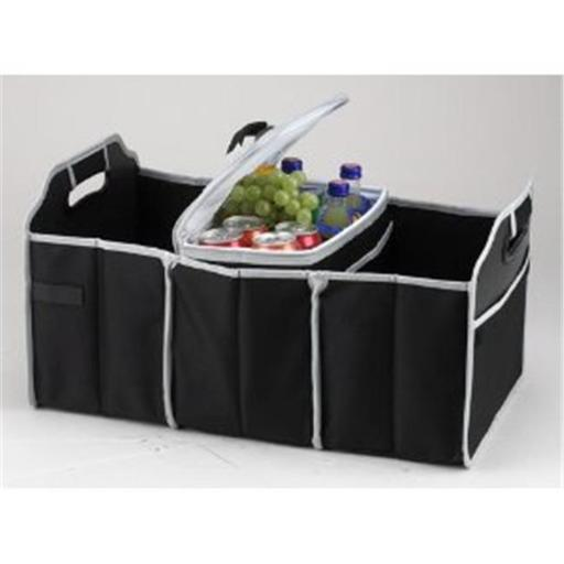 Picnic At Ascot 8014-BLK Trunk Organizer And Cooler Set- Black