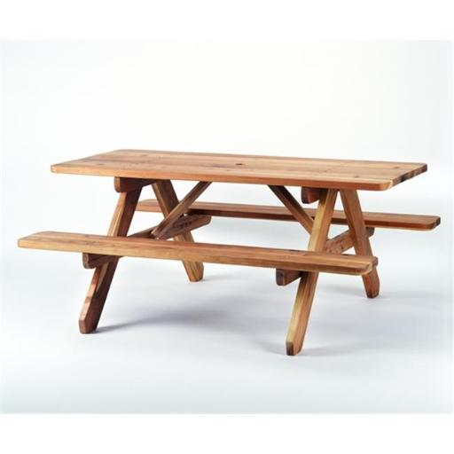 Salish Cedar PICTBL4 4 ft. Western Red Cedar Picnic Table