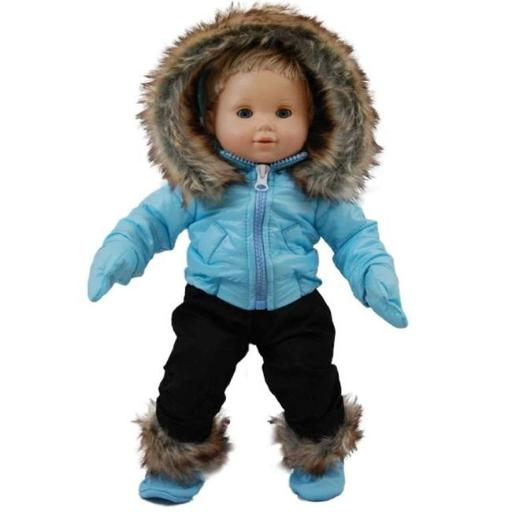 The Queens Treasures BBCSWB Blue Snow Suit Outfit for 15 in. American Girl Bitty Baby YWRER1FWSC1OGSYY