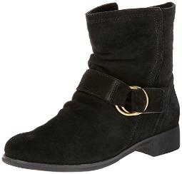 ALL BLACK Women's Suede Ring Buckle, 37 EU/6.5 M US