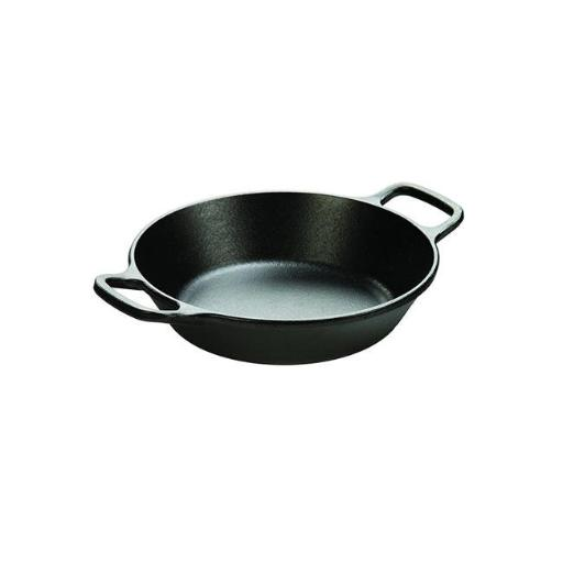 Lodge L5RPL3 8 in. Round Cast Iron Pan, Black