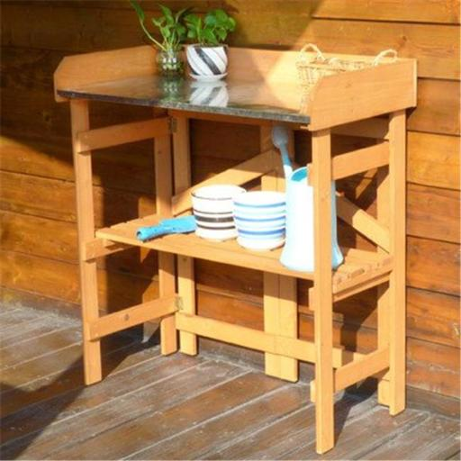 Merry Products PTB0080010010 Folding Utility Table & Potting Bench