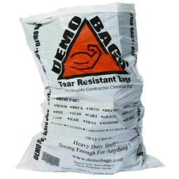 Demobags 897677000040 Tear Resistant Trash Bags, 100 Lbs.
