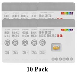 10 Pack ACTIVEON ACA22S16 16GB High Speed Class 10 microSDHC UHS-I Memory Card
