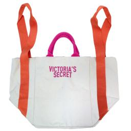 2018 Victoria's Secret Bombshell Large Summer Beach Tote Bag, Canvas with Nylon Interior and Zippere